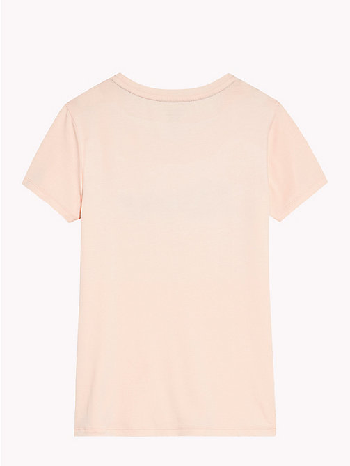 TOMMY HILFIGER Signature Logo T-Shirt - SEASHELL PINK - TOMMY HILFIGER Girls - detail image 1
