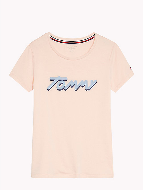 TOMMY HILFIGER Signature Logo T-Shirt - SEASHELL PINK - TOMMY HILFIGER Girls - main image
