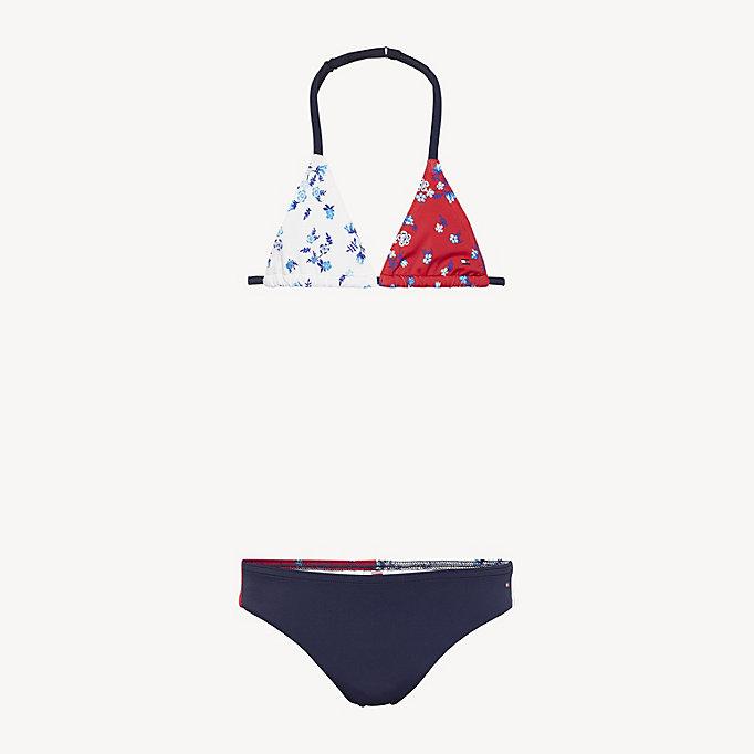 various design best website stable quality Floral Print Triangle Bikini Set | BLUE | Tommy Hilfiger