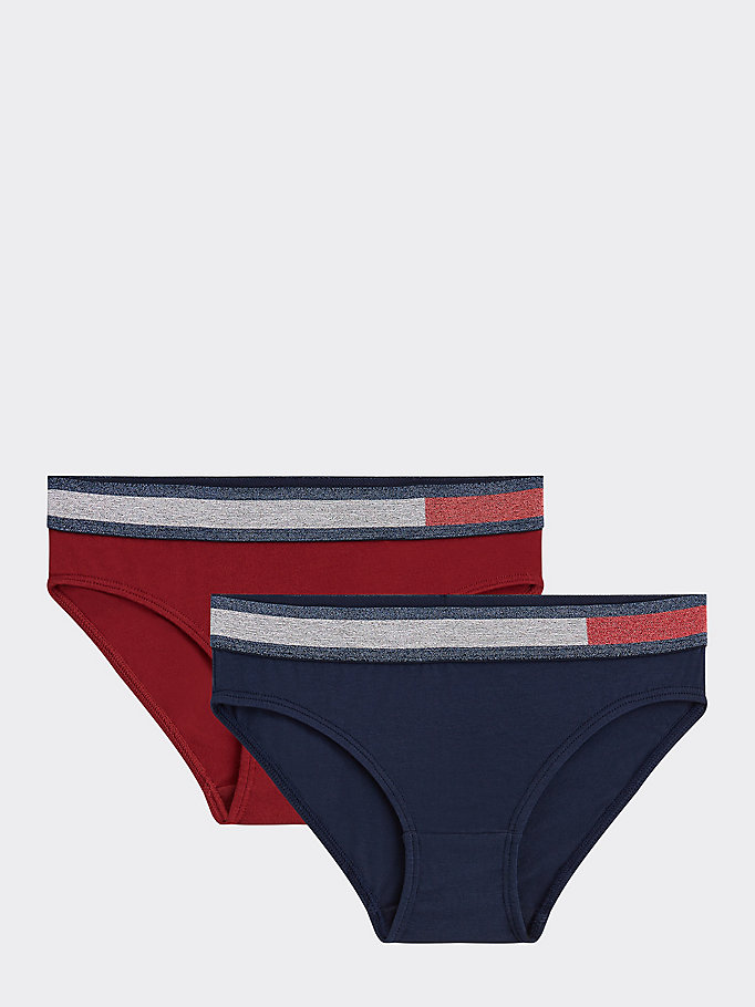 latest selection of 2019 promo codes elegant and sturdy package 2-Pack Metallic Knickers   BLUE   Tommy Hilfiger