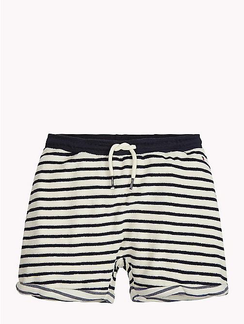 TOMMY HILFIGER Stripe Towelling Shorts - SNOW WHITE - TOMMY HILFIGER Girls - main image