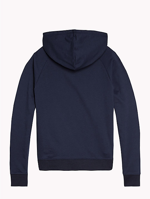 TOMMY HILFIGER Cotton Blend Hoody - NAVY BLAZER - TOMMY HILFIGER Girls - detail image 1