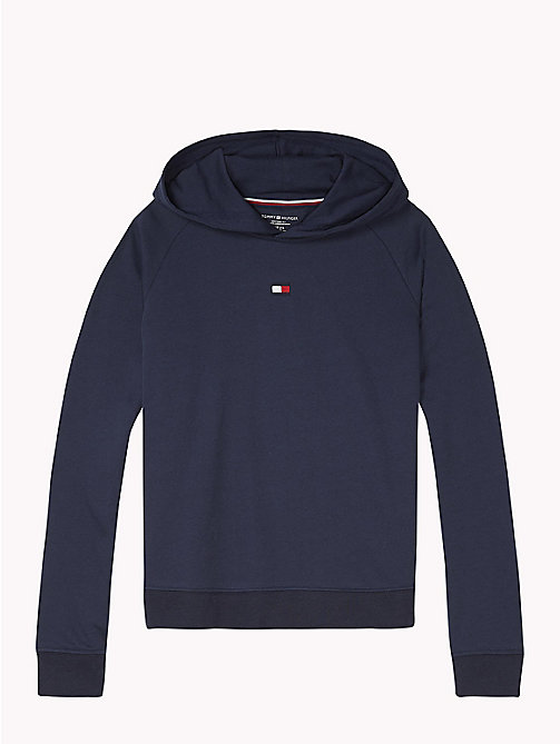 TOMMY HILFIGER Cotton Blend Hoody - NAVY BLAZER - TOMMY HILFIGER Girls - main image