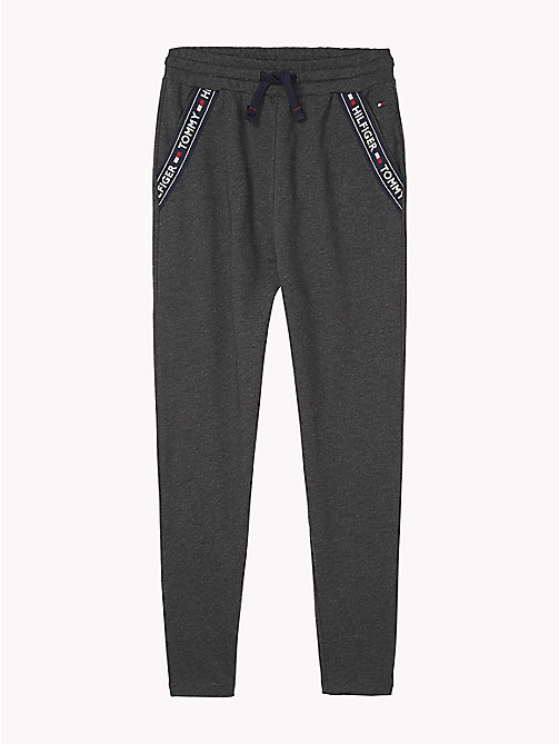 TOMMY HILFIGER Drop Crotch Jogging Bottoms - DARK GREY HTR - TOMMY HILFIGER Girls - main image