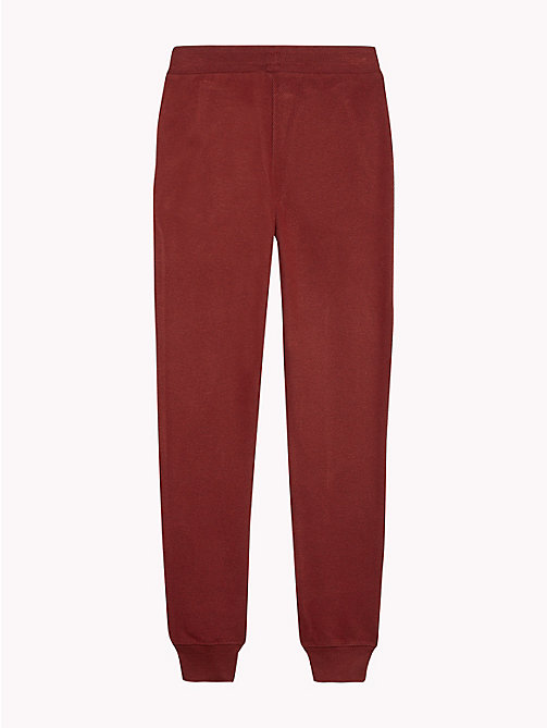 TOMMY HILFIGER Tapered Jogging Bottoms - RHUBARB - TOMMY HILFIGER Boys - detail image 1