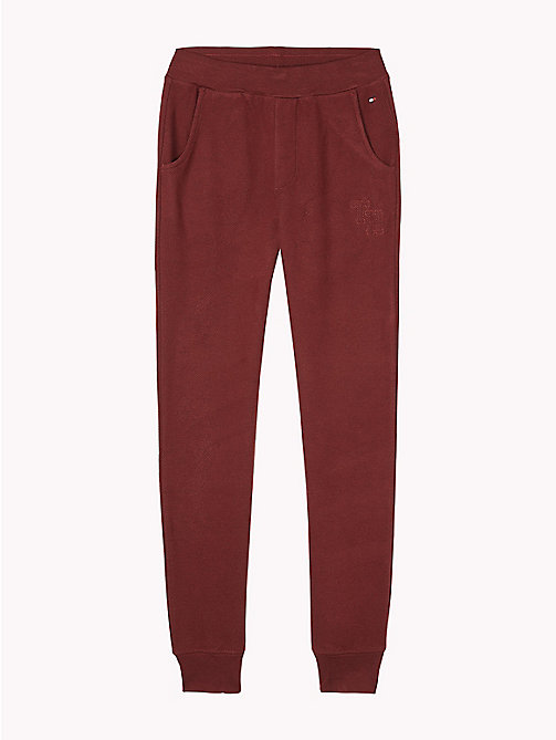 TOMMY HILFIGER Tapered Jogging Bottoms - RHUBARB - TOMMY HILFIGER Underwear & Socks - main image