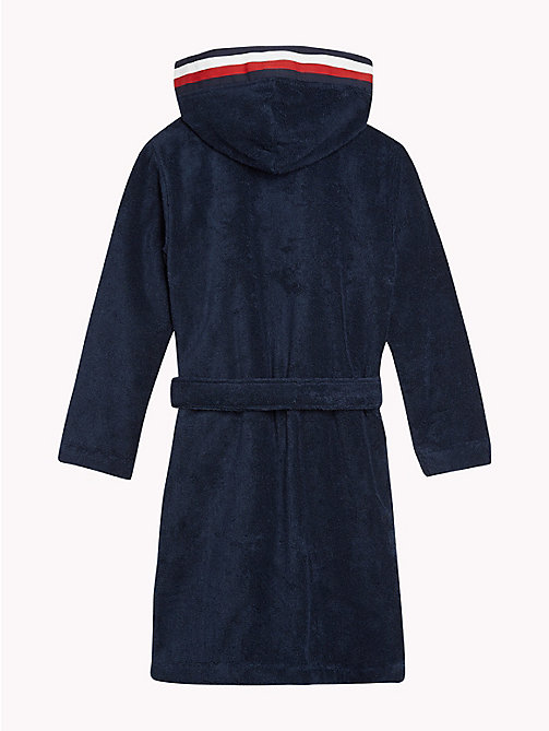 TOMMY HILFIGER Hooded Cotton Bathrobe - NAVY BLAZER - TOMMY HILFIGER Underwear & Socks - detail image 1