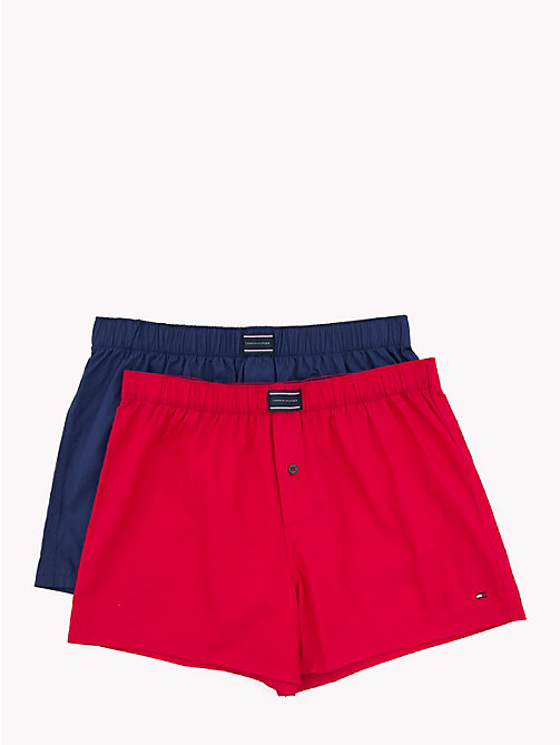TOMMY HILFIGER 2-Pack Cotton Boxers - BLUE PRINT/SCOOTER - TOMMY HILFIGER Packs - main image