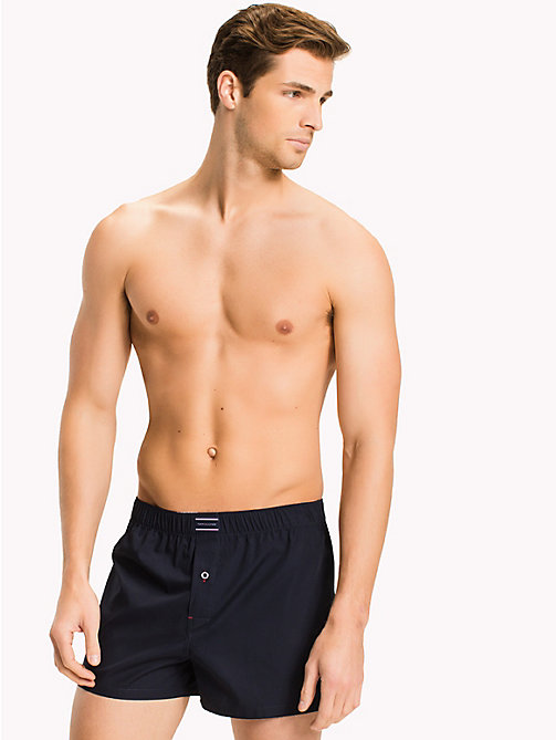 TOMMY HILFIGER Cotton 2 Pack Boxers - WHITE/ NAVY BLAZER - TOMMY HILFIGER Underwear - main image