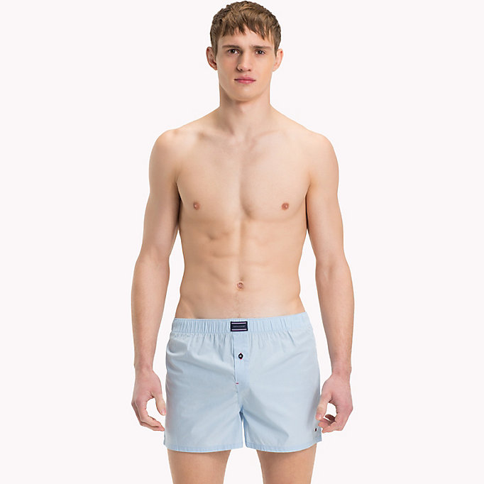 TOMMY HILFIGER Cotton 2 Pack Boxers - WHITE/ NAVY BLAZER - TOMMY HILFIGER Clothing - detail image 3