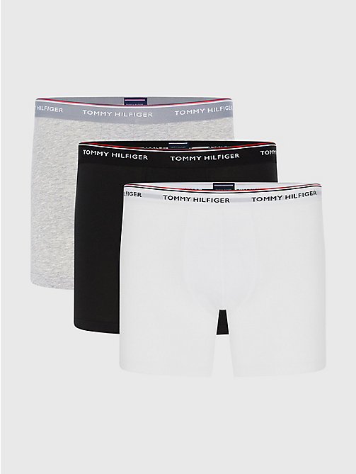 TOMMY HILFIGER Lot de 3 boxers longs - GREY HEATHER - TOMMY HILFIGER Lots - image principale