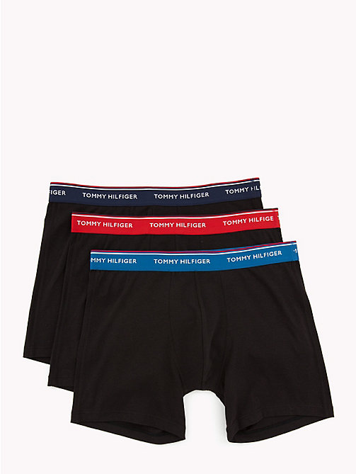 TOMMY HILFIGER Lot de 3 boxers longs - MYK BLUE/POMPEIAN RED/PCOAT(BLACK) - TOMMY HILFIGER Lots - image principale