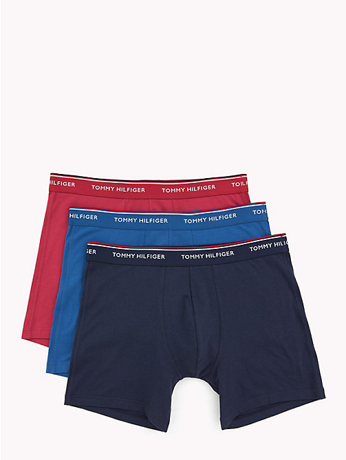 TOMMY HILFIGER 3-Pack Boxer Briefs - DEEP CLARET/ CLASSIC BLUE/ PEACOT - TOMMY HILFIGER Packs - main image