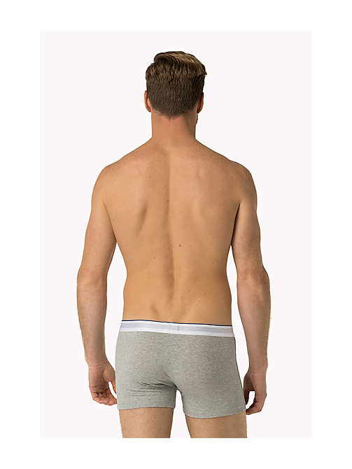 TOMMY HILFIGER Cotton Crest Trunk - GREY HEATHER - TOMMY HILFIGER Trunks - detail image 1