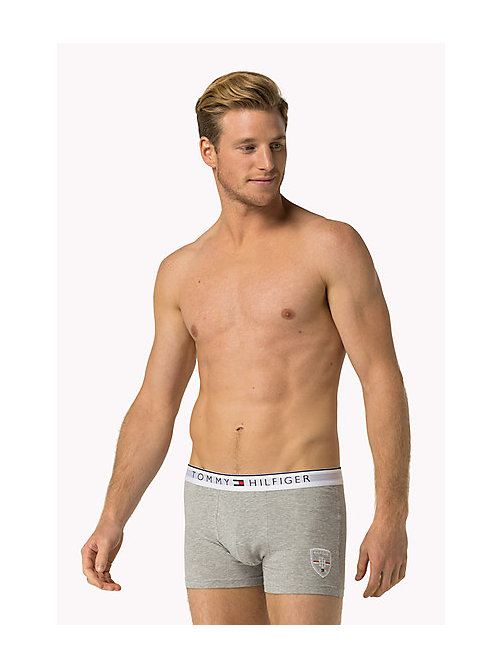 TOMMY HILFIGER Cotton Crest Trunk - GREY HEATHER - TOMMY HILFIGER Trunks - main image