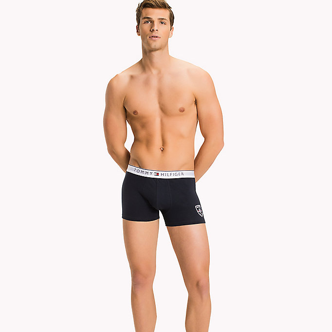 TOMMY HILFIGER Cotton Crest Trunk - BLACK - TOMMY HILFIGER Men - main image