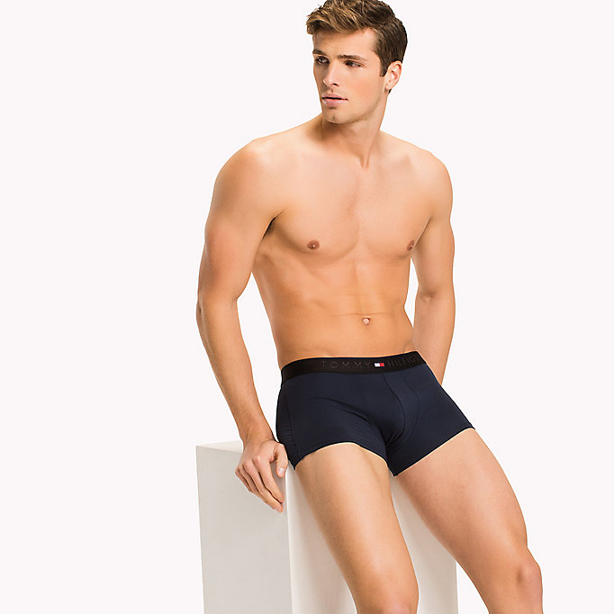 TOMMY HILFIGER Microfiber Low Rise Trunks - BLACK - TOMMY HILFIGER Clothing - main image