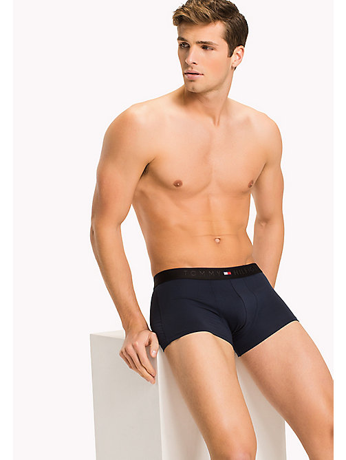 TOMMY HILFIGER Colour-Blocked Waistband Trunks - NAVY BLAZER - TOMMY HILFIGER Underwear - main image