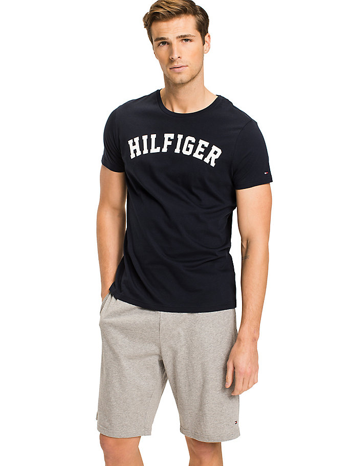 blue tommy hilfiger logo t-shirt for men tommy hilfiger