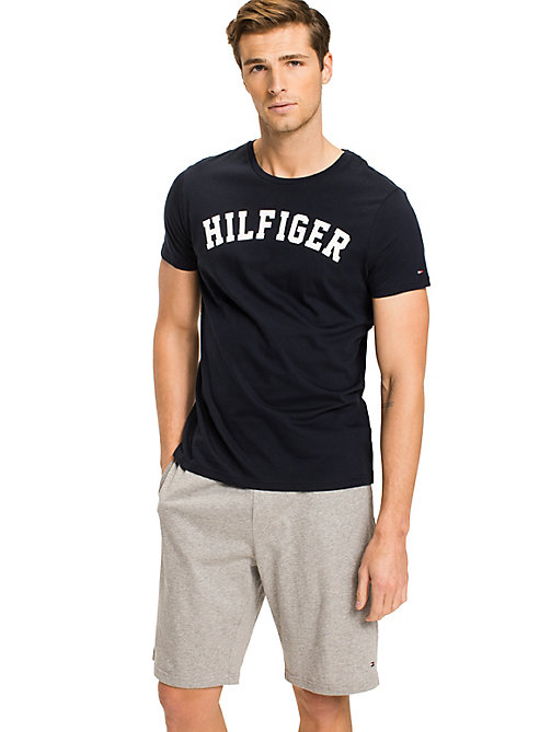 TOMMY HILFIGER Cotton Icon Crew Neck T-shirt - NAVY BLAZER - TOMMY HILFIGER Pyjama Tops - main image