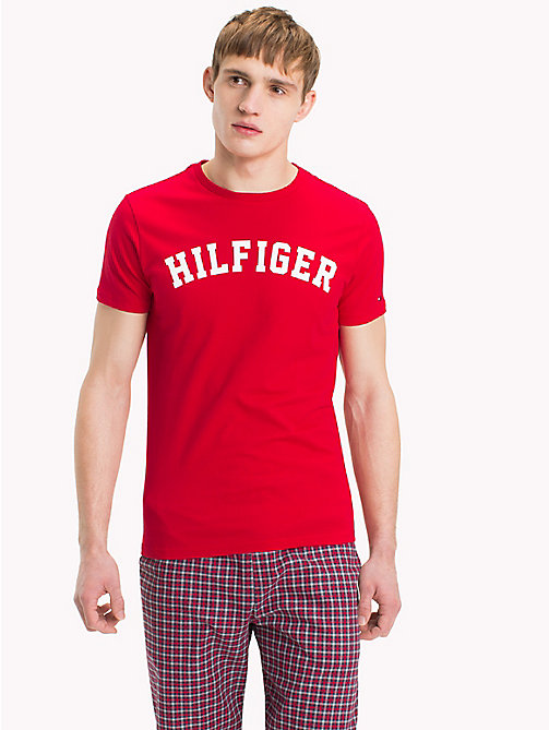 TOMMY HILFIGER Tommy Hilfiger Logo T-Shirt - TANGO RED - TOMMY HILFIGER Sustainable Evolution - main image