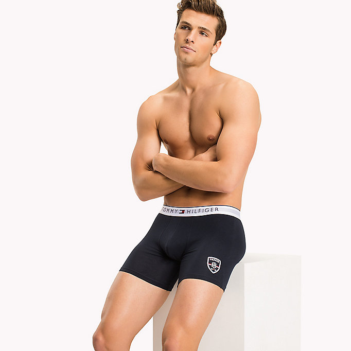 TOMMY HILFIGER Cotton Trunks - BLACK - TOMMY HILFIGER Clothing - main image