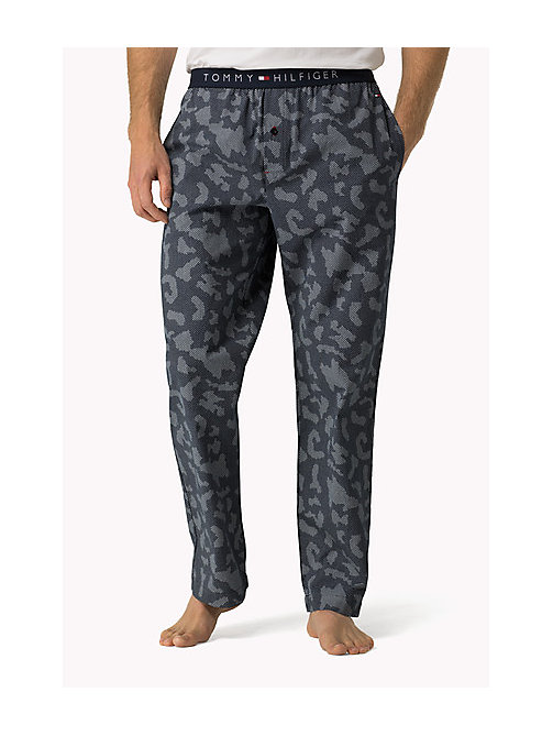 TOMMY HILFIGER Cotton Icon Pyjama Trousers - NAVY BLAZER - TOMMY HILFIGER Lounge & Nightwear - main image