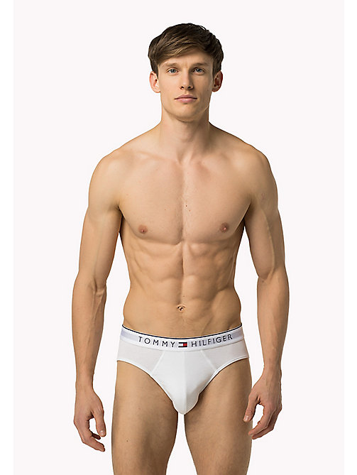 TOMMY HILFIGER Signature Waistband Briefs - WHITE - TOMMY HILFIGER Clothing - main image