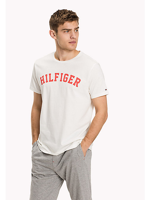 TOMMY HILFIGER Organic Cotton Lounge T-Shirt - SNOW WHITE - TOMMY HILFIGER Tops - main image