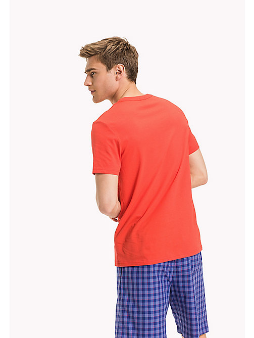 TOMMY HILFIGER Organic Cotton Lounge T-Shirt - CRIMSON - TOMMY HILFIGER Tops - detail image 1