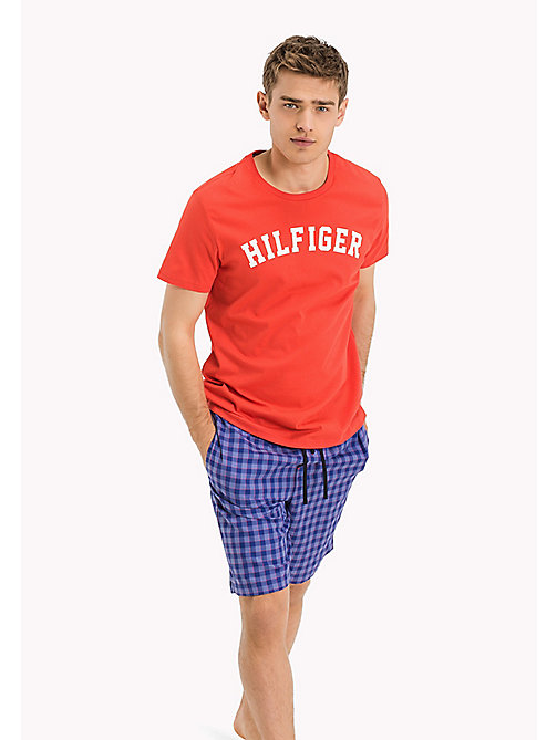 TOMMY HILFIGER Organic Cotton Lounge T-Shirt - CRIMSON - TOMMY HILFIGER Tops - main image