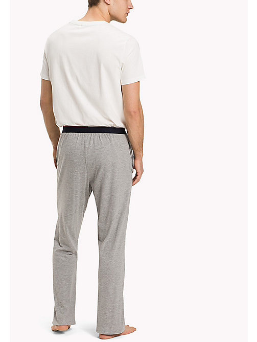 TOMMY HILFIGER Cotton Modal Lounge Trousers - GREY HEATHER - TOMMY HILFIGER Broeken - detail image 1