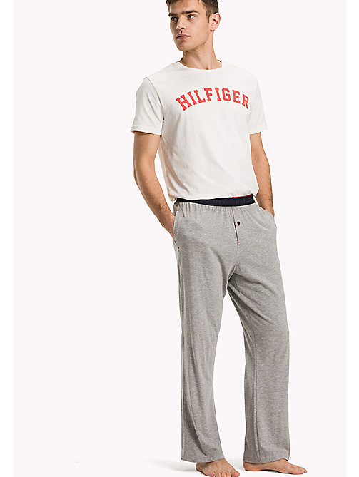 TOMMY HILFIGER Cotton Modal Lounge Trousers - GREY HEATHER - TOMMY HILFIGER Broeken - main image