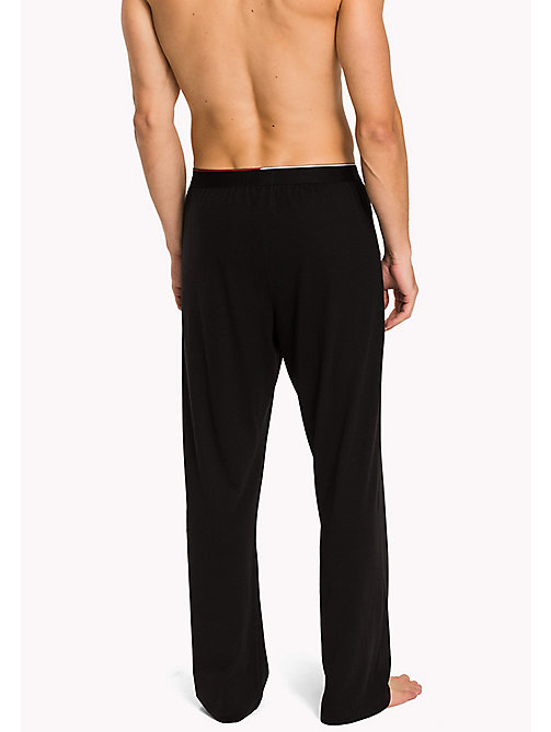 TOMMY HILFIGER Cotton Modal Lounge Trousers - BLACK - TOMMY HILFIGER Pyjama Bottoms - detail image 1