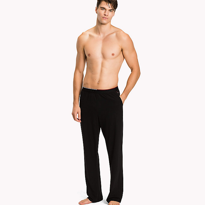 TOMMY HILFIGER Cotton Modal Lounge Trousers - GREY HEATHER - TOMMY HILFIGER Clothing - main image