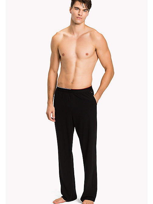 TOMMY HILFIGER Cotton Modal Lounge Trousers - BLACK - TOMMY HILFIGER Pyjama Bottoms - main image