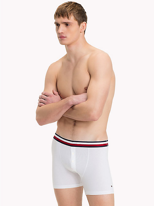 TOMMY HILFIGER Signature Stripe Boxer Briefs - WHITE - TOMMY HILFIGER Trunks - main image