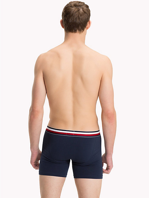 TOMMY HILFIGER Signature Stripe Boxer Briefs - NAVY BLAZER - TOMMY HILFIGER Trunks - detail image 1