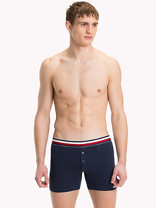TOMMY HILFIGER Signature Stripe Boxer Briefs - NAVY BLAZER - TOMMY HILFIGER Trunks - main image