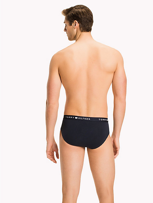 TOMMY HILFIGER Stretch Cotton Briefs - NAVY BLAZER - TOMMY HILFIGER Underwear - detail image 1