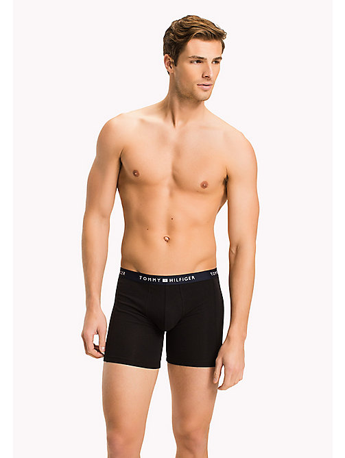TOMMY HILFIGER Colour-Blocked Boxer Briefs - BLACK - TOMMY HILFIGER Underwear - main image