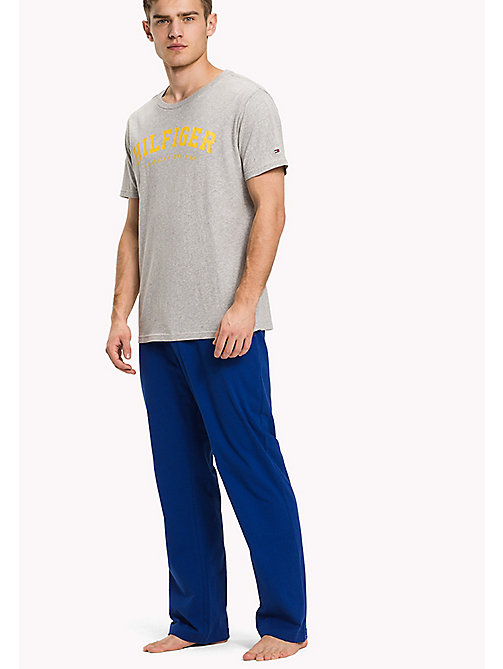 TOMMY HILFIGER SET SS LOGO - GREY HEATHER/MAZARINE BLUE - TOMMY HILFIGER Loungewear & Pigiami - immagine principale