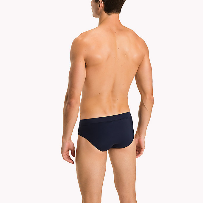 TOMMY HILFIGER Stretch Swim Briefs - PVH BLACK - TOMMY HILFIGER Men - detail image 1