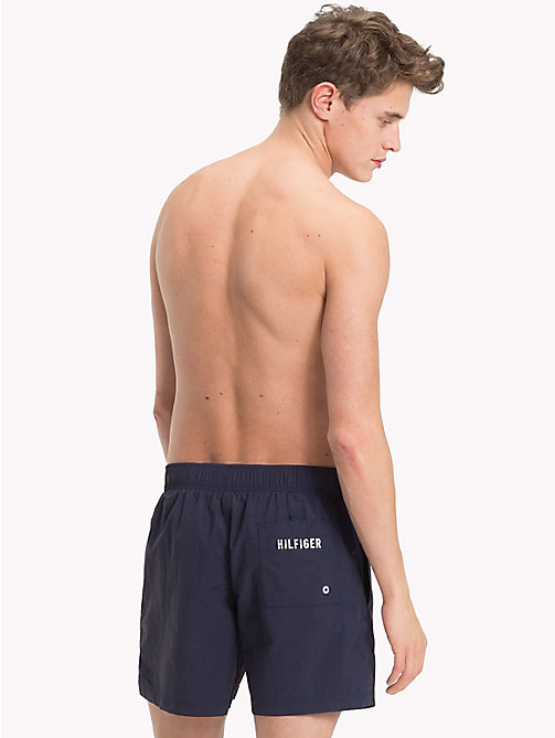 TOMMY HILFIGER Branded Drawstring Medium Swim Shorts - NAVY BLAZER - TOMMY HILFIGER Swimwear - detail image 1