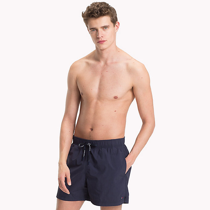 TOMMY HILFIGER Drawstring Swim Shorts - CARROT - TOMMY HILFIGER Men - main image