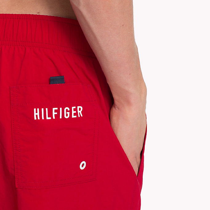 TOMMY HILFIGER Drawstring Swim Shorts - DYNASTY GREEN - TOMMY HILFIGER Men - detail image 1