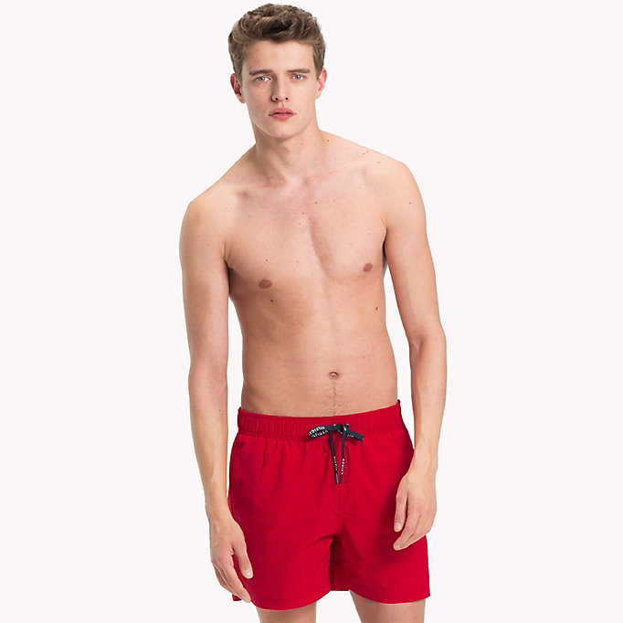 TOMMY HILFIGER Drawstring Swim Shorts - DYNASTY GREEN - TOMMY HILFIGER Men - main image