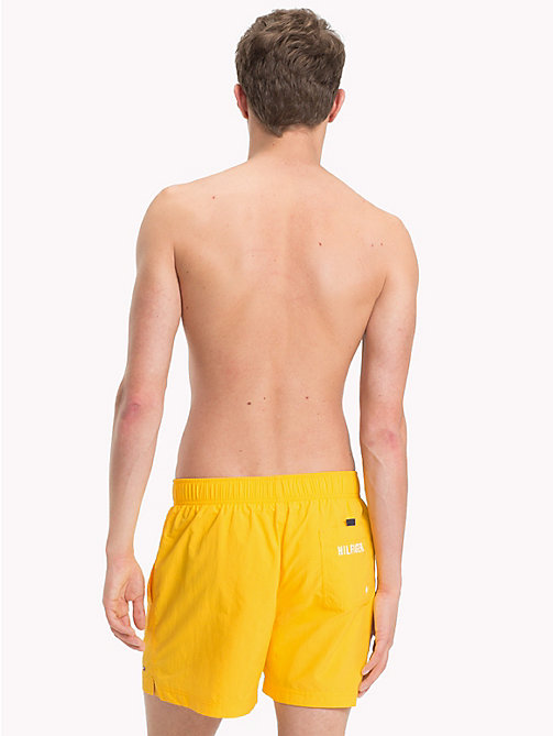 TOMMY HILFIGER Branded Drawstring Medium Swim Shorts - SPECTRA YELLOW - TOMMY HILFIGER Swimwear - detail image 1