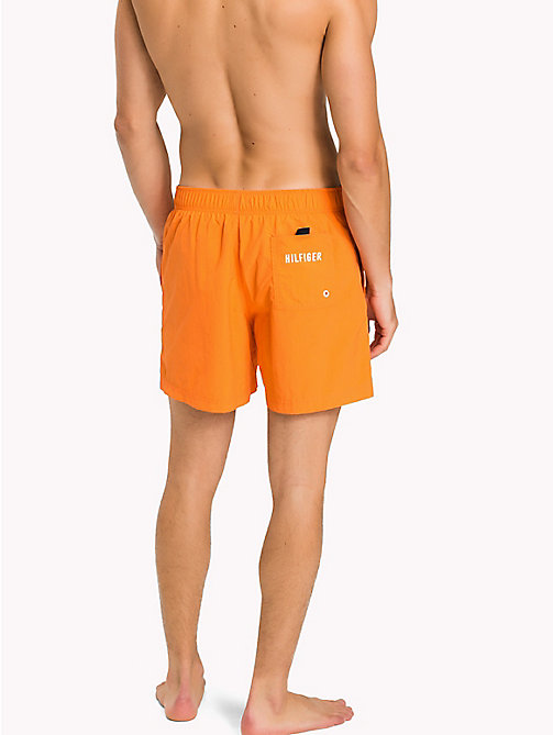 TOMMY HILFIGER Drawstring Swim Shorts - CARROT - TOMMY HILFIGER Swim styles - detail image 1
