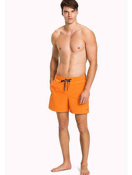 TOMMY HILFIGER Drawstring Swim Shorts - CARROT - TOMMY HILFIGER Swim styles - main image
